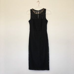 Jessica Simpson Black Lace Knee Length Dress